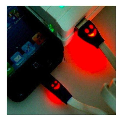 Smiley Micro USB Colour Changing Cable