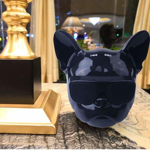Bluetooth Speaker Bulldog Bass Portable Wireless Speaker Bluetooth 4.1 Outdoor (Bright Black)