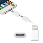 Micro USB to 8 Pin Adapters for iOS Devices (White)