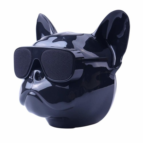 Bluetooth Speaker Bulldog Bass Portable Wireless Speaker Bluetooth 4.1 Outdoor (Bright Black)
