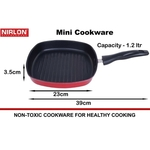 Nirlon Non-Stick Aluminium Grill Pan 22.5cm, Black (GP_22.5)
