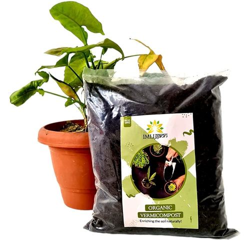 Rbotronics IMLIGAON Natural & Manure Vermicompost, Organic & Natural Plant Nutrient for Home Gardens (1 KG)
