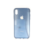 "iPhone X Soft Silicone All Sides Protection ""360 Degree"" Shockproof Slim Back Case Cover  -  Blue"
