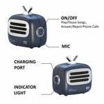 Portable Bluetooth Speaker with Mic (Blue)