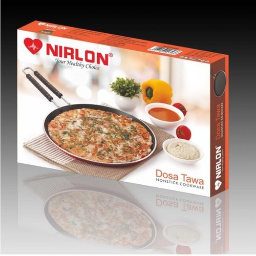 Nirlon Non-Stick 5mm Dosa Tawa, Product Weight ~885gm, Package Weight 1139gm, Non-Induction, Wire Handle (5mm_FT12wireHandle) (28.5 cm)