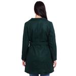 Bottle Green Colour Long Woolen Coat