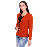 Orange Colour Short Woolen Coat