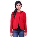 Red Colour Short Woolen Coat