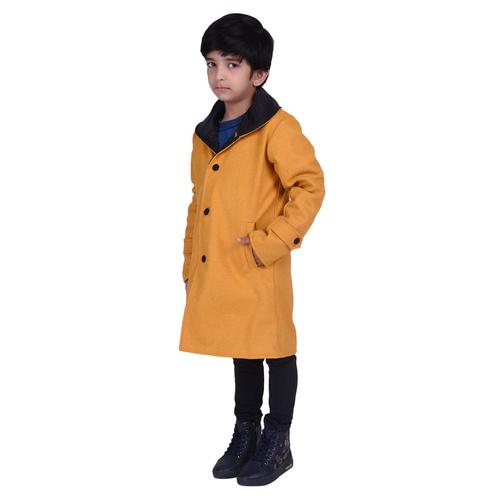 Yellow Colour Kids Woolen Coat