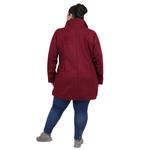 Maroon Colour Short Woolen Coat