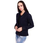 Dark Blue Colour Short Woolen Coat
