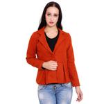 Orange Colour Short Woolen Coat