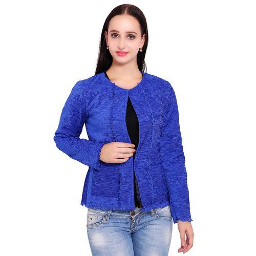 Blue Colour Short Jute Coat