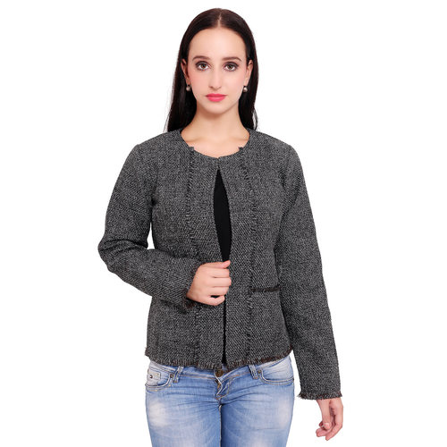 Grey Colour Short Jute Coat