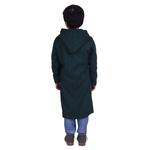 Green Colour Kids Woolen Coat
