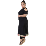 Black Colour Straight Rayon Kurti