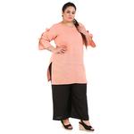 Orange Colour Straight Khadi Kurti
