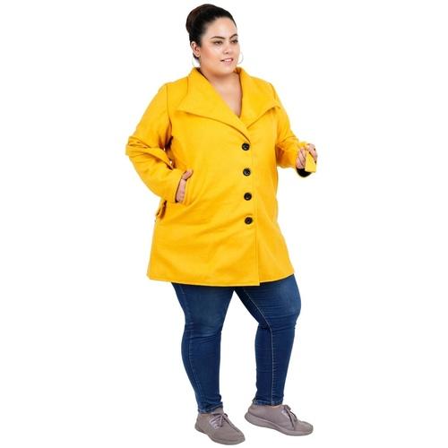 Yellow Colour Short Woolen Coat