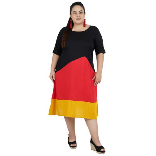 Multi Colour Rayon Dress
