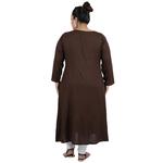 Brown Colour Straight Rayon Kurti