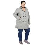 Light Grey Colour Short Woolen Coat