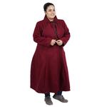 Maroon Colour Long Woolen Coat