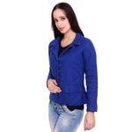 Blue Colour Short Woolen Coat