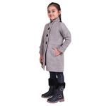 Grey Colour Kids Woolen Coat