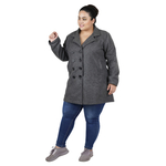 Dark Grey Colour Short Woolen Coat