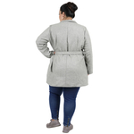 Light Grey Colour Short Woolen Coat
