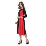 Red & Black Colour Rayon Dress