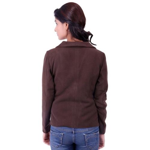 Brown Colour Short Woolen Coat