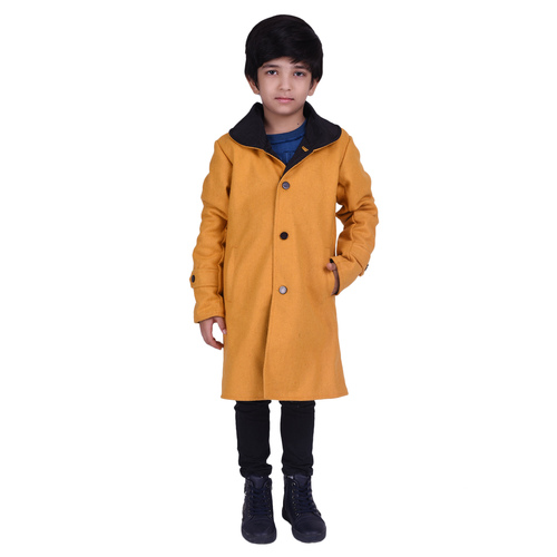 Yellow Colour Kids Woolen Coat