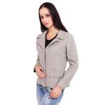 Grey Colour Short Woolen Coat
