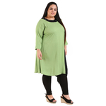 Green Colour Straight Rayon Kurti