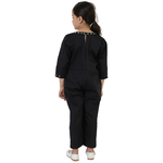 Black Colour Cotton Satin Jumpsuit