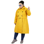 Yellow Colour Long Woolen Coat