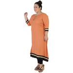 Light Brown Colour Straight Rayon Kurti