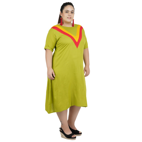 Green Colour Rayon Dress