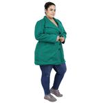 Green Colour Short Woolen Coat