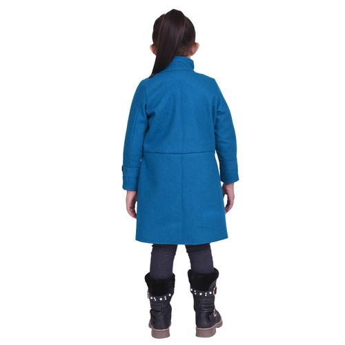 Firozi Colour Kids Woolen Coat