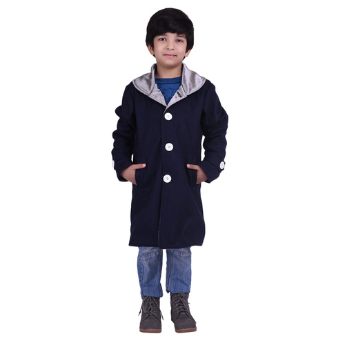 Blue Colour Kids Woolen Coat