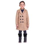 Beige Colour Kids Woolen Coat