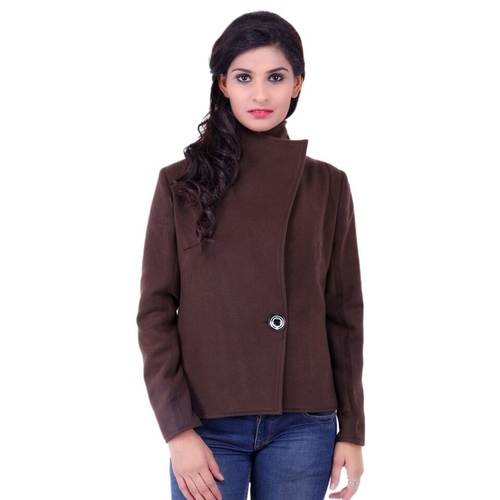 Brown Colour Short Woolen Coat