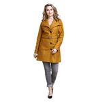 Yellow Colour Long Woolen Coat