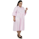 Baby Pink Colour Rayon Dress