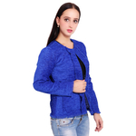 Blue Colour Short Jute Coat