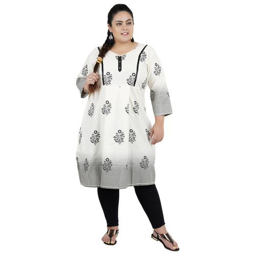Multi Colour Straight Cotton Feeding Kurti