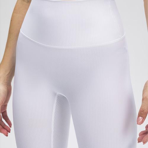 Ribbed Leggings- White