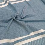 Weaving Fabric Indigo and White Lining